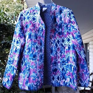 REVERSIBLE JACKET IN PINKS AND BLUES, 12